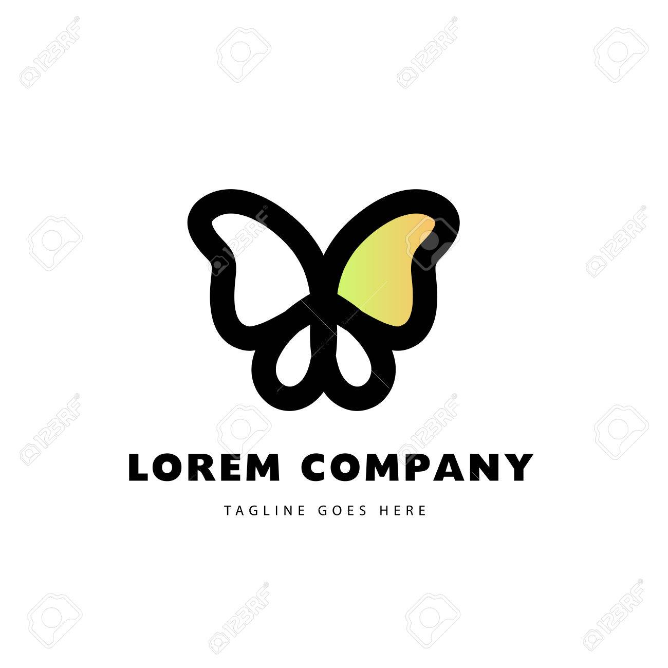 Abstract logo with butterfly character simple insect icon good abstract logo with butterfly character simple insect icon good for floral store clothes biocorpaavc Image collections