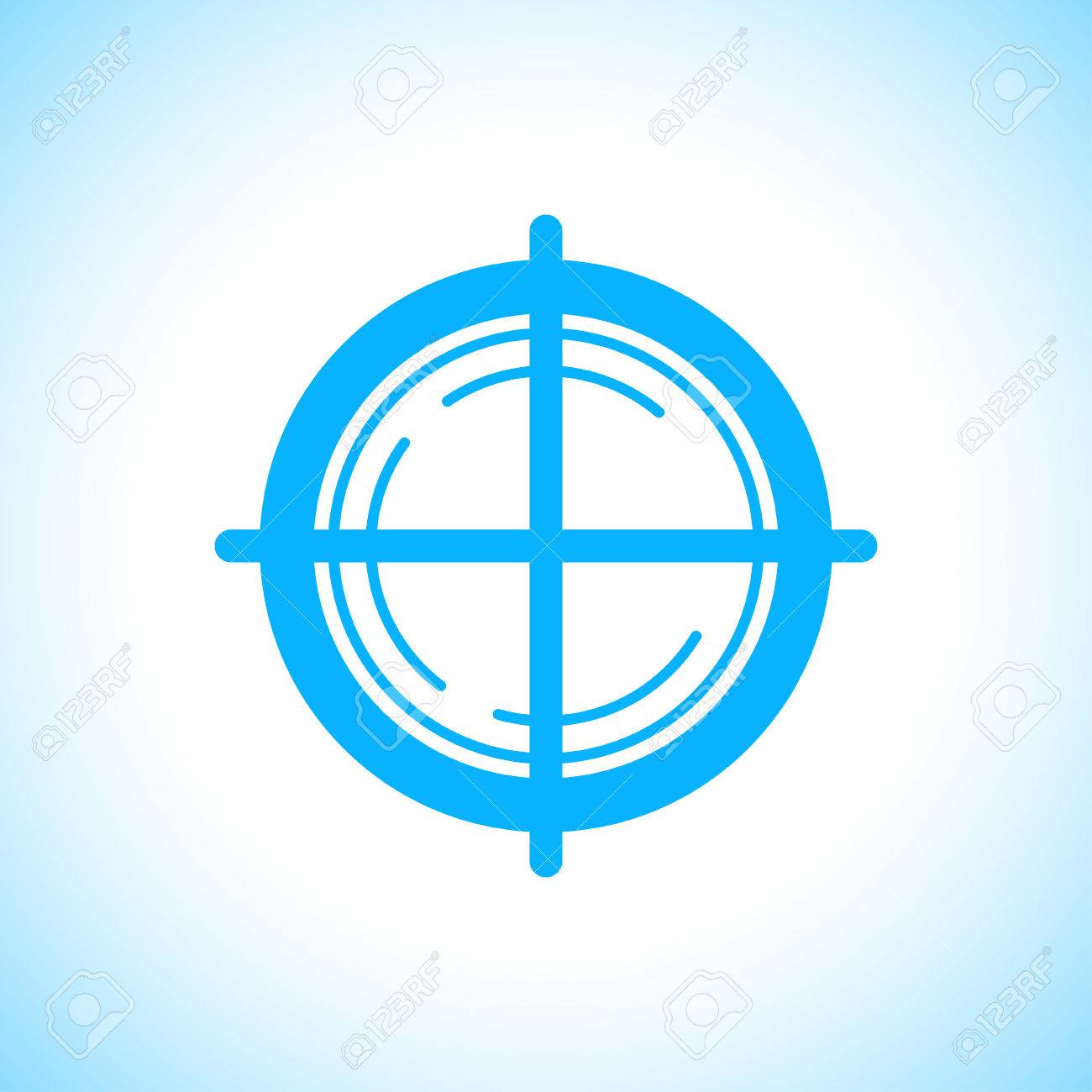vector vector flat aim icon isolated on white background game target symbol sample design sniper shooting mark