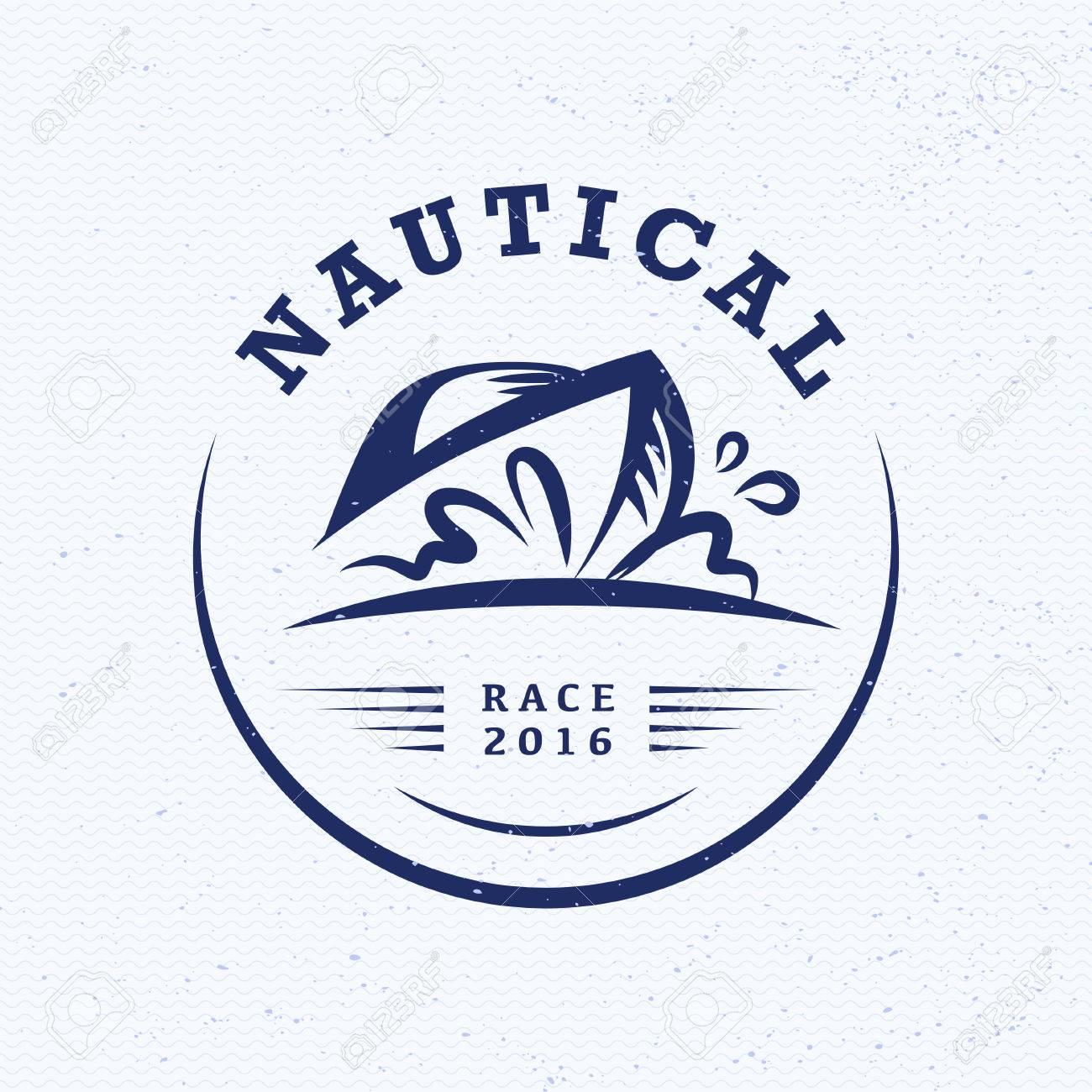 Vector Club Náutico Plana, Diseño Regata. Barco De Vela, Icono Nave ...