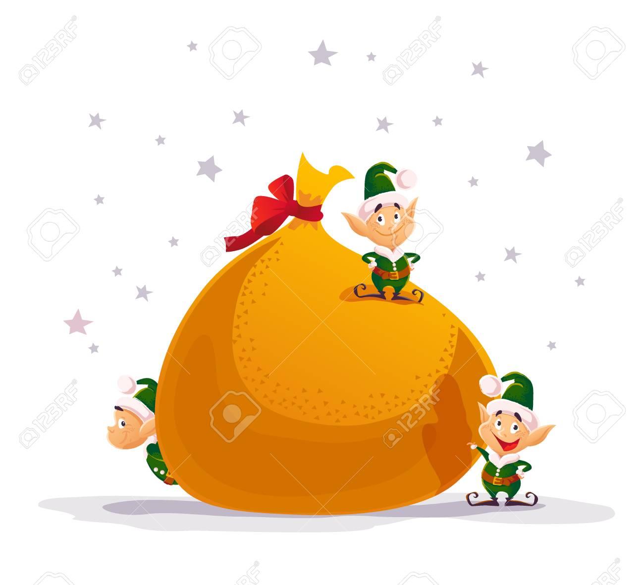 Feliz Natal Liso Do Vetor E Ilustracao Do Ano Novo Feliz Com O