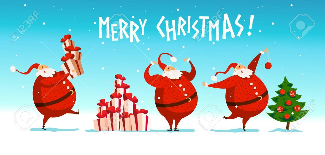 Vector Merry Christmas, Happy New Year Congratulation Design ...