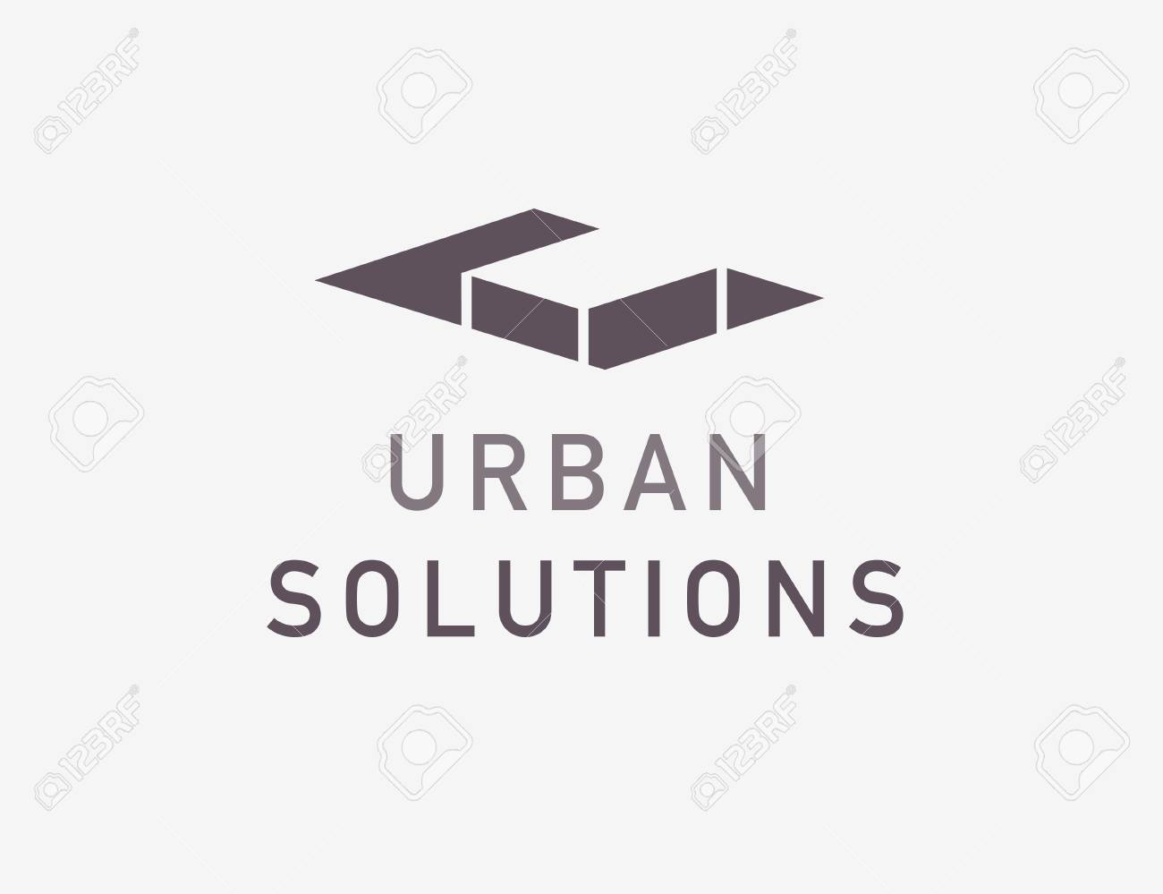 Vector Flat Abstract Architect Bureau Logo Design Isolated On ...