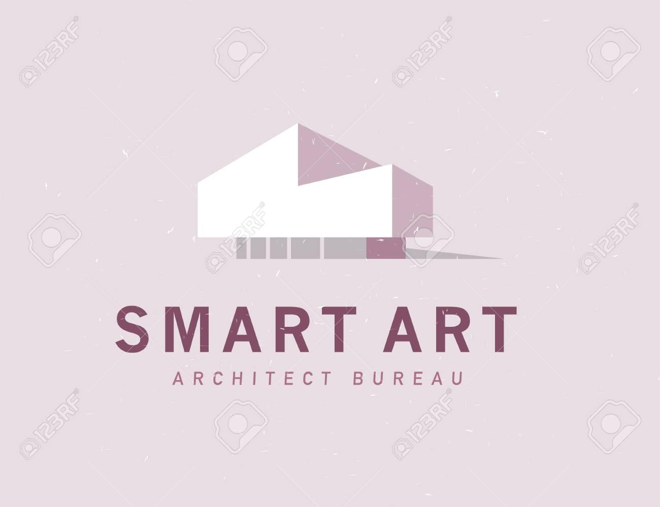 Vector Flat Architect Bureau Logo Design Isolated On Light ...