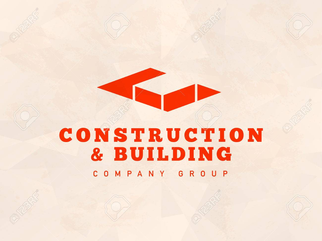 Vector flat architect bureau logo design isolated on light