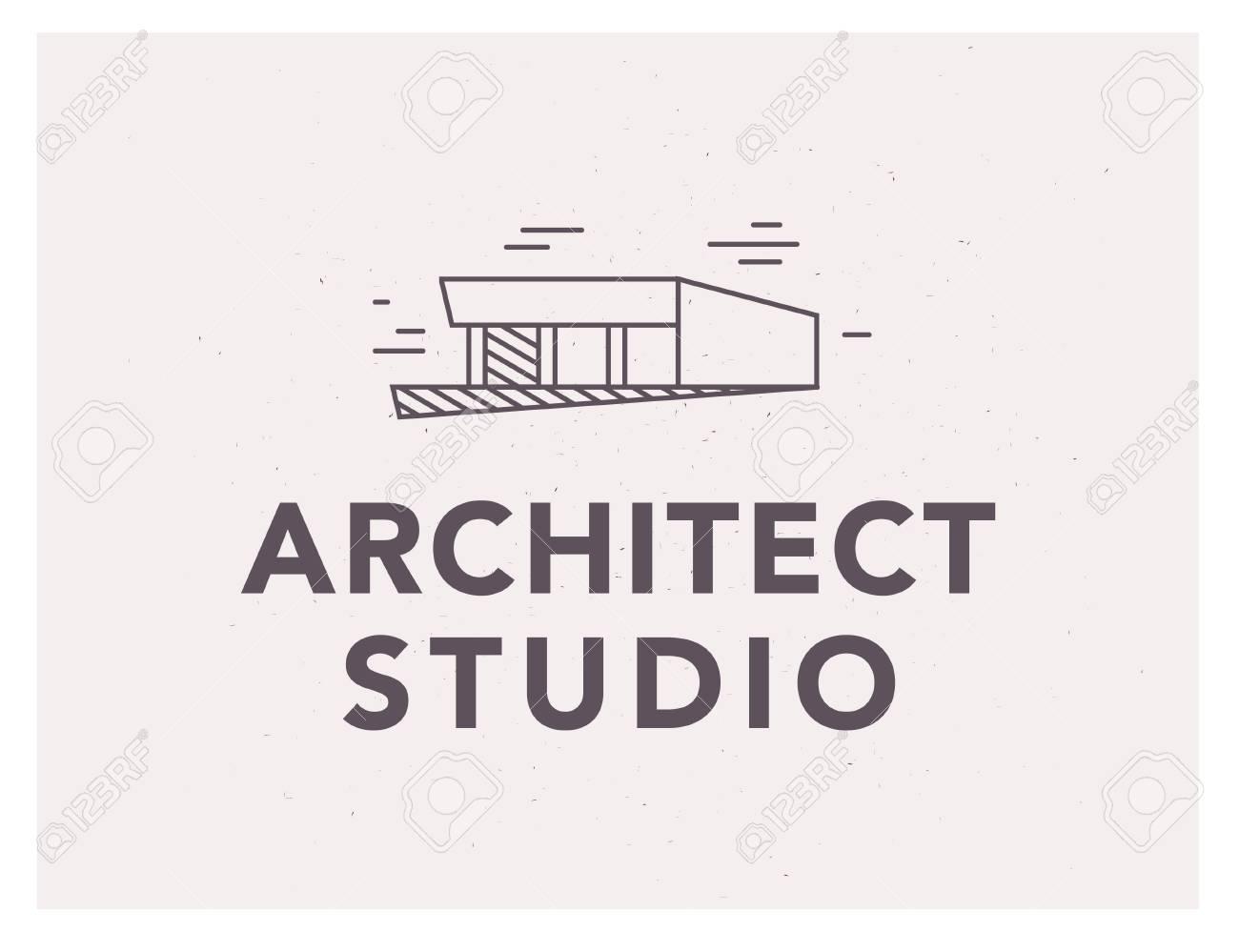 Vector Flat Architect Bureau Logo Design Isolated On White ...