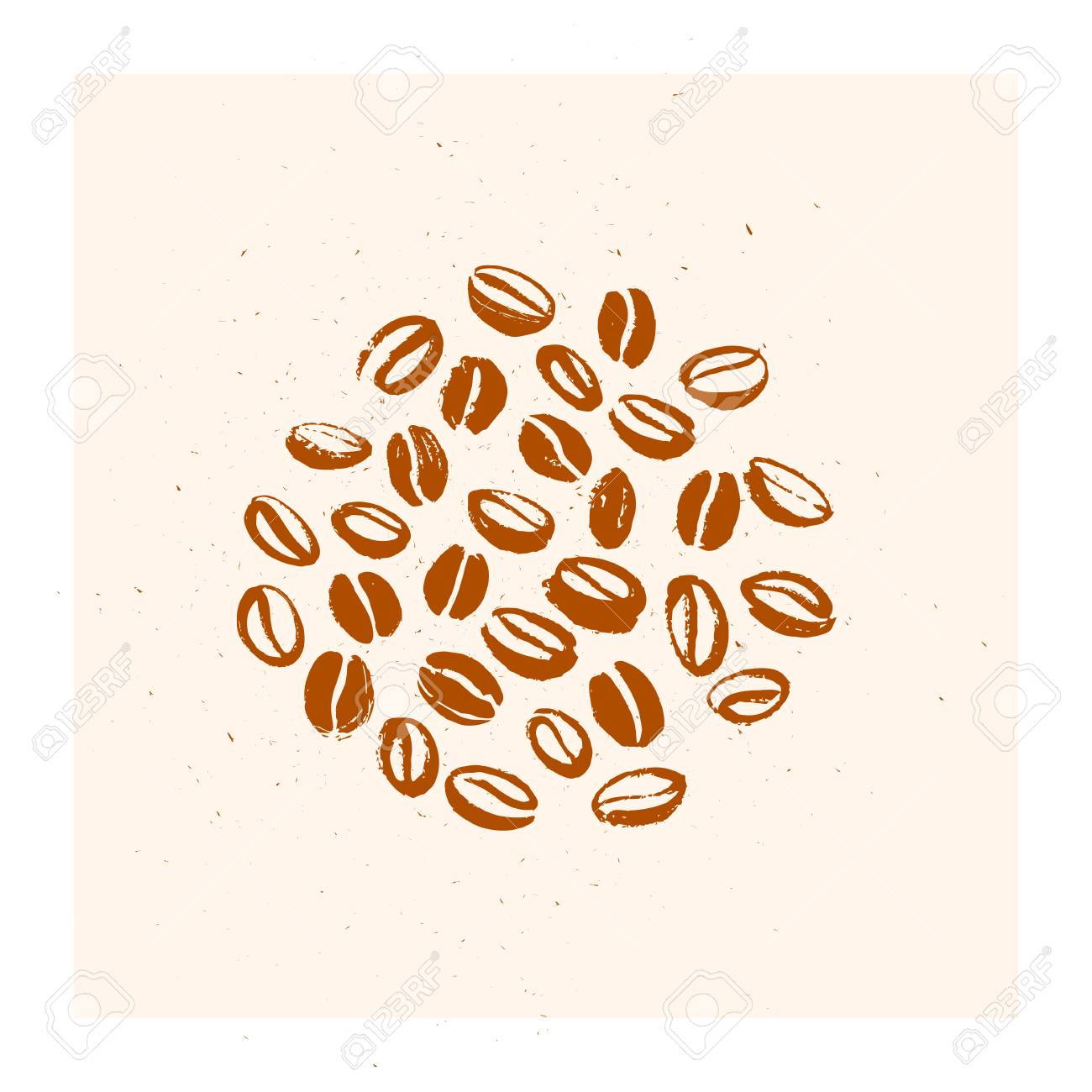 vector hand drawn coffee beans set design with isolated on white royalty free cliparts vectors and stock illustration image 98754429 vector hand drawn coffee beans set design with isolated on white