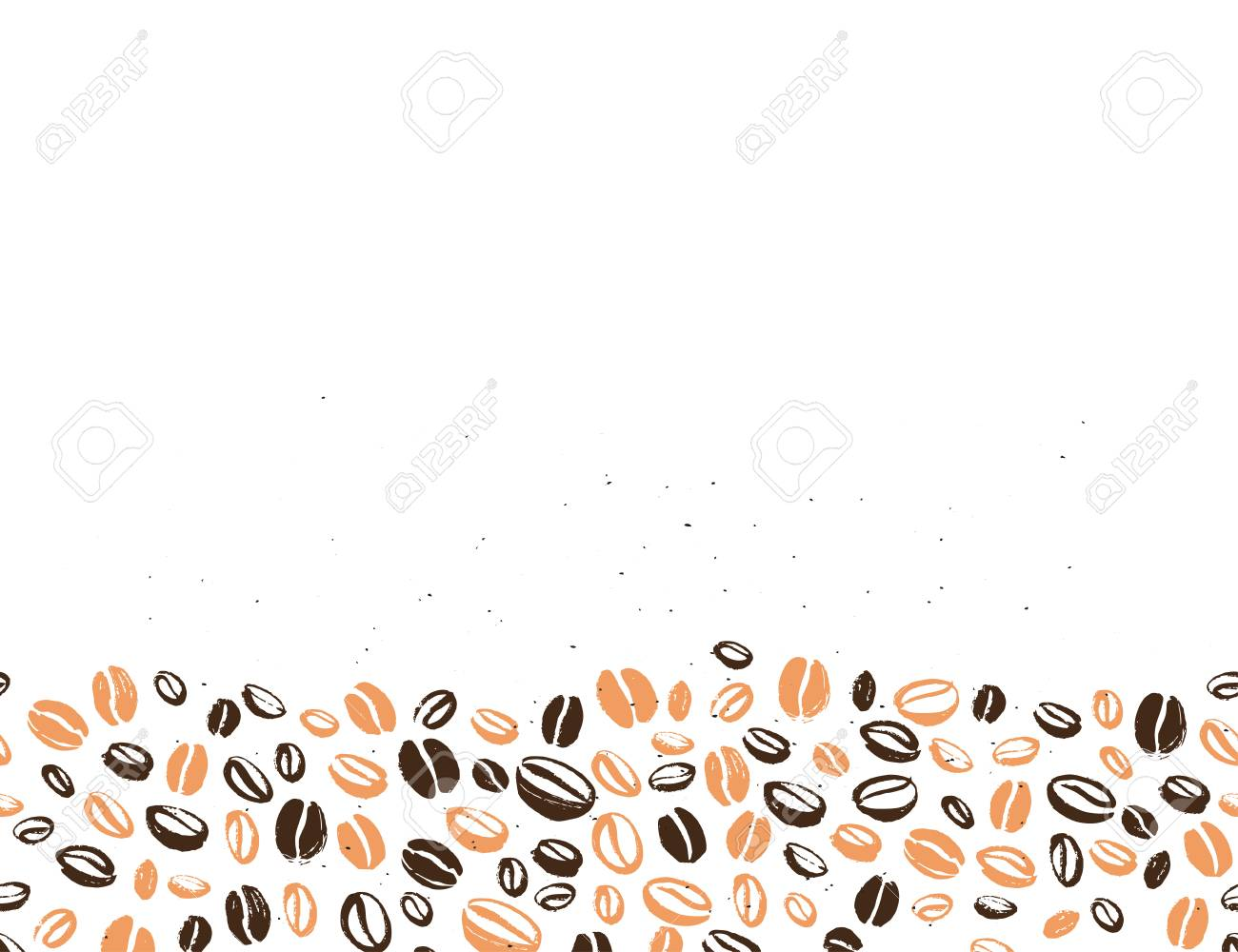 coffee backdrop design with hand drawn coffee beans isolated royalty free cliparts vectors and stock illustration image 98907539 coffee backdrop design with hand drawn coffee beans isolated