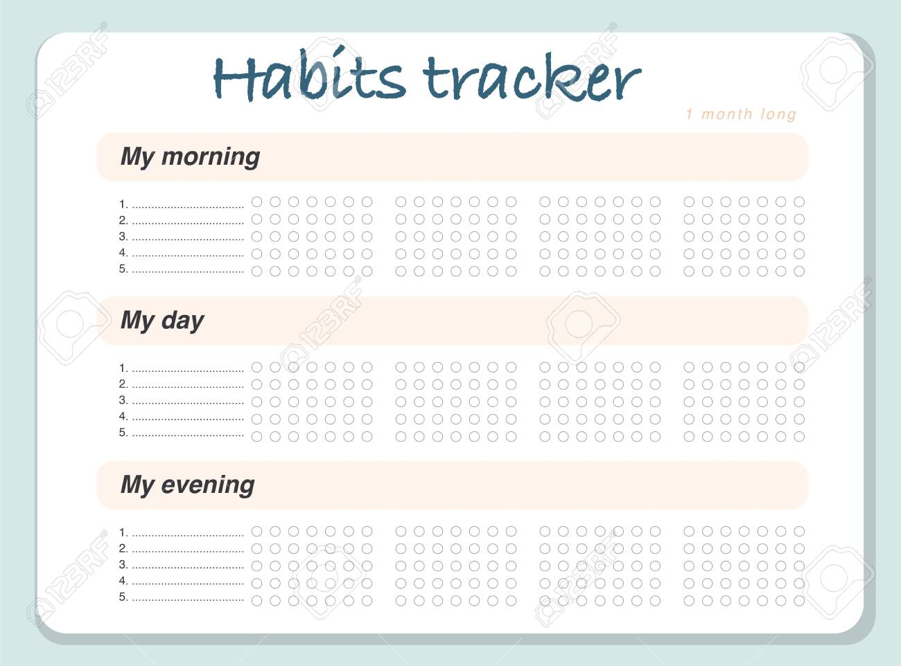 image about Monthly Organizer called Vector behavior tracker site structure template calendar for thirty day period