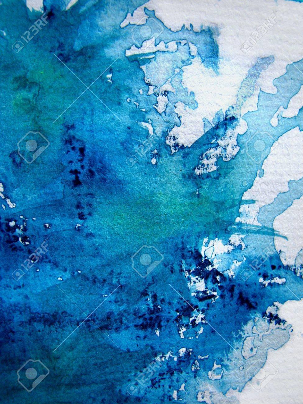 Splash of Blue Watercolor Stock Photo - 4932131