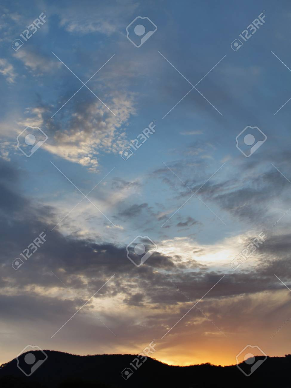 Sunset over the Hinterland Stock Photo - 16747811