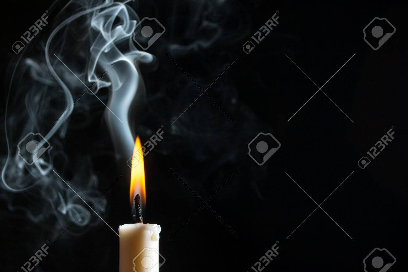 Candle With Smoke Stock Photo, Picture And Royalty Free Image ... for Candle Smoke Photography  45hul