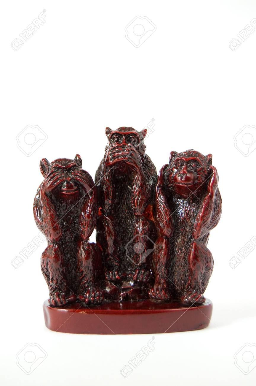 Feng shui monkeys Stock Photo - 4844896