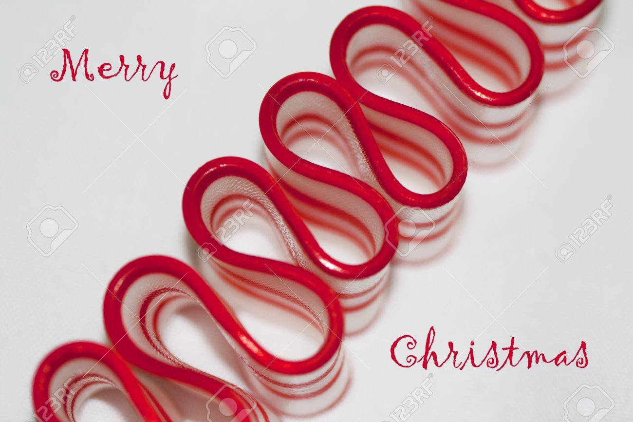 Merry Christmas Old Fashioned Ribbon Candy Stock Photo, Picture And ...