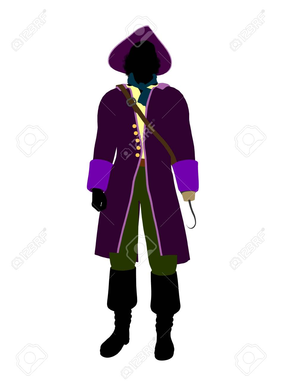 Captain hook illustration silhouette on a white background Stock Photo - 6586962