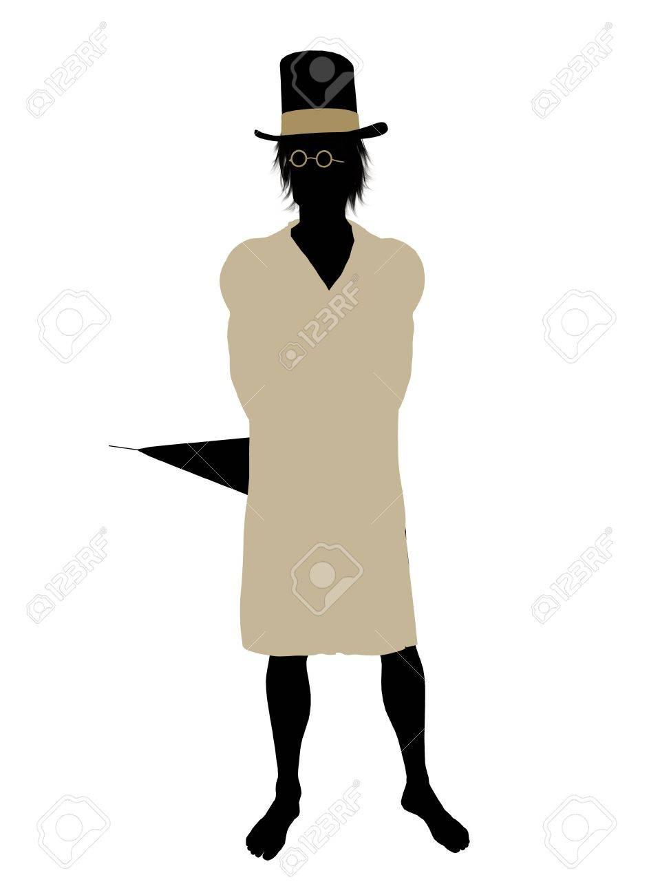 John of Peter Pan illustration silhouette on a white background Stock Illustration - 6586149