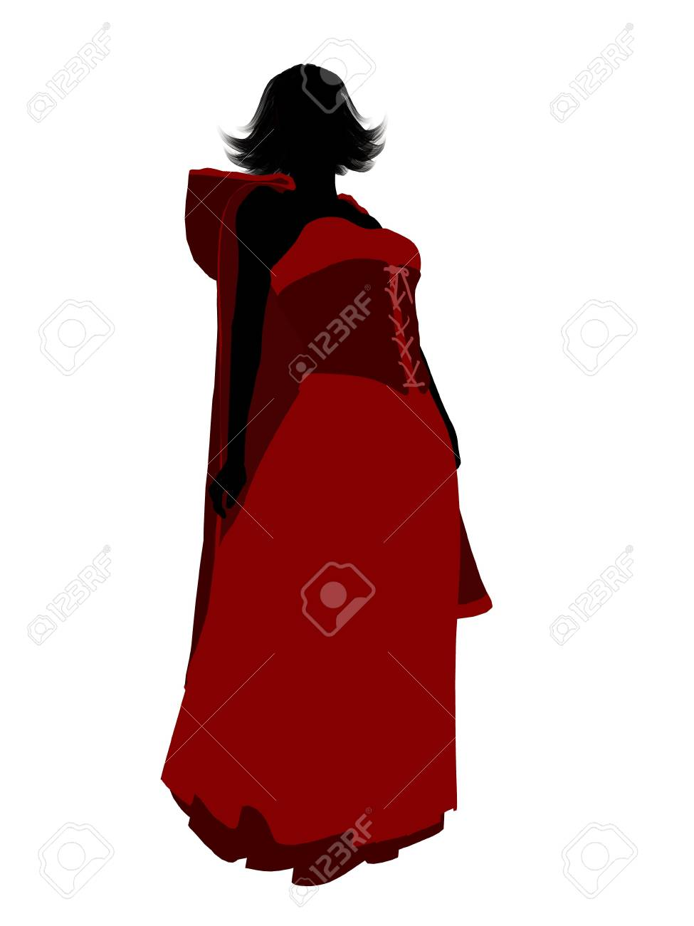 Little Red Riding Hood illustration silhouette on a white background Stock Illustration - 6586260
