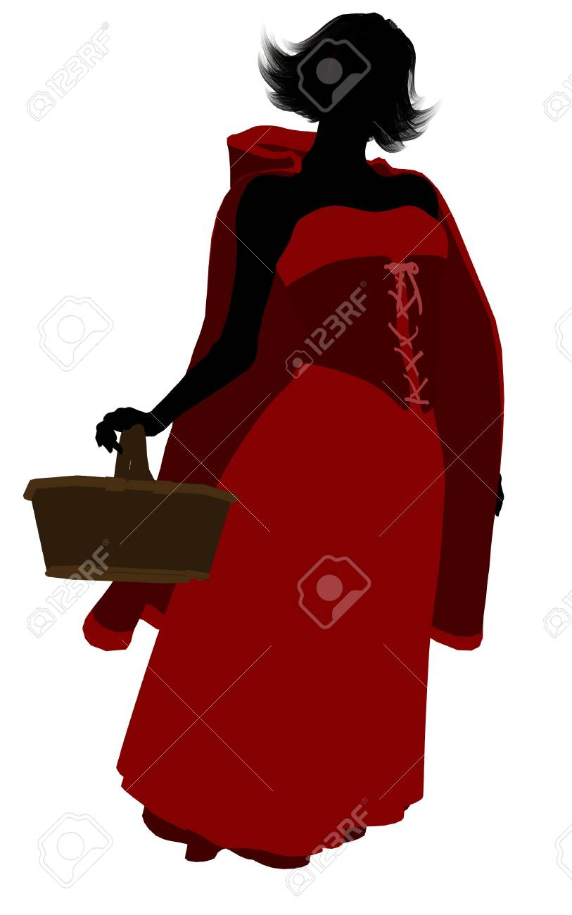 Little Red Riding Hood illustration silhouette on a white background Stock Illustration - 6586152