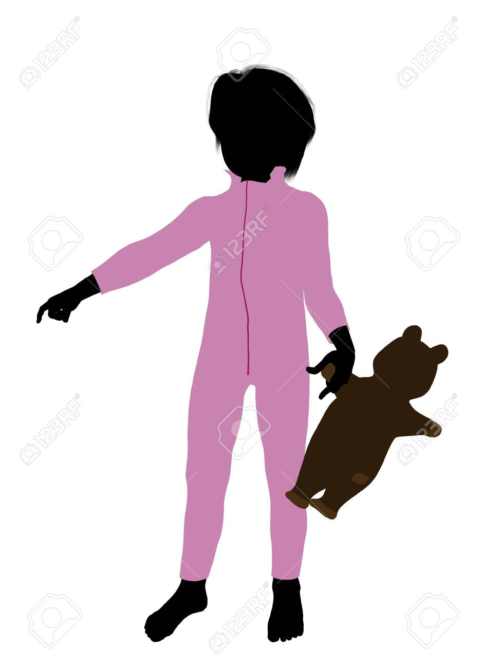 Peter of Peter Pan illustration silhouette on a white background Stock Illustration - 6586331