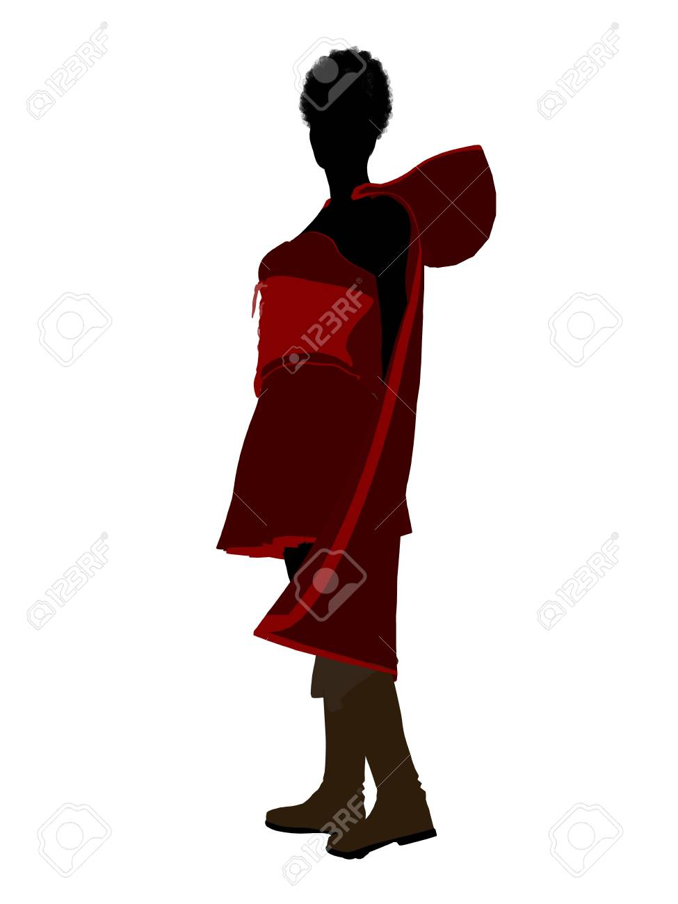 Little Red Riding Hood illustration silhouette on a white background Stock Illustration - 6587051