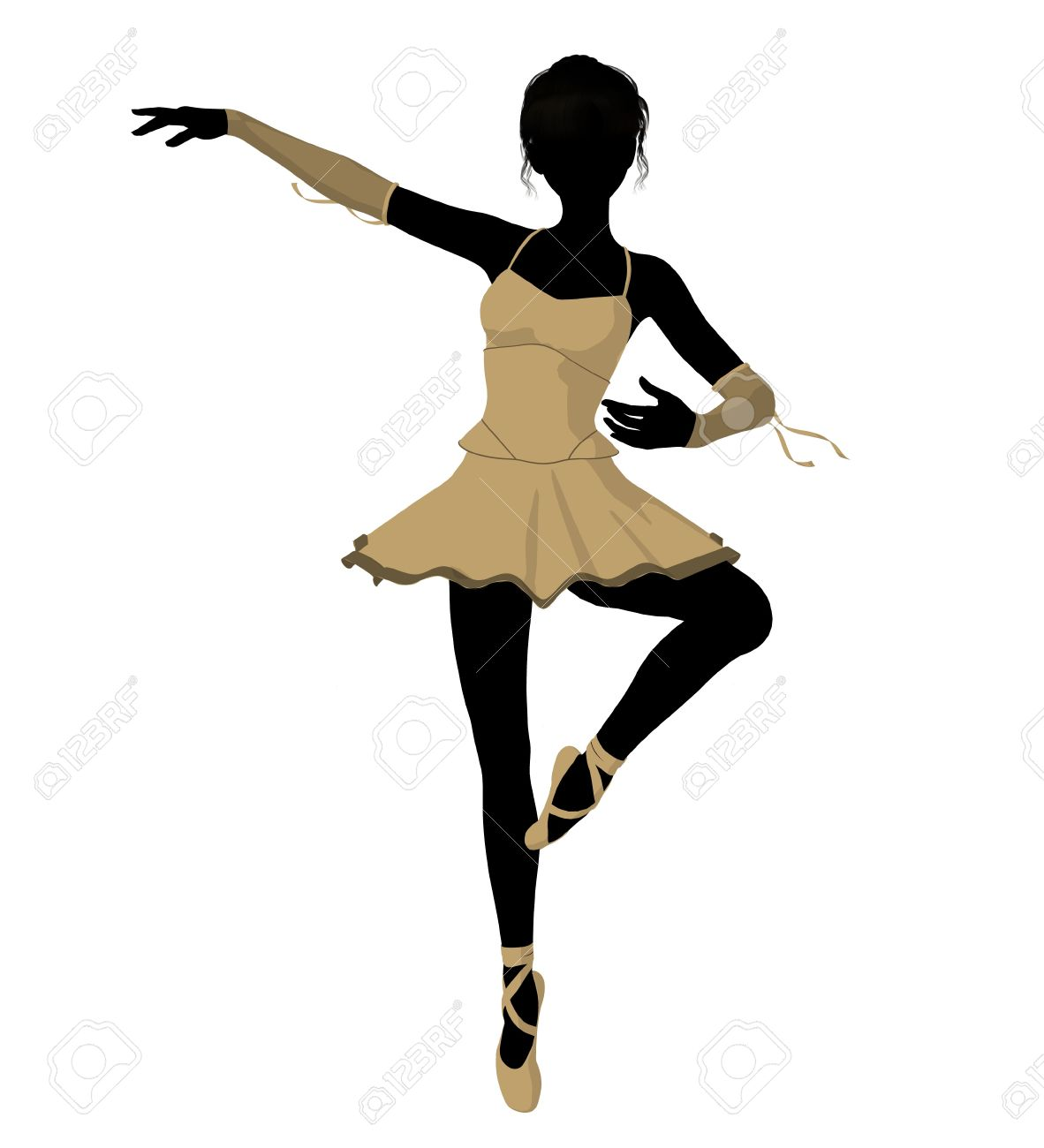 Ballerina Silhouette On A White Background Stock Photo Picture And Royalty Free Image Image 7730736