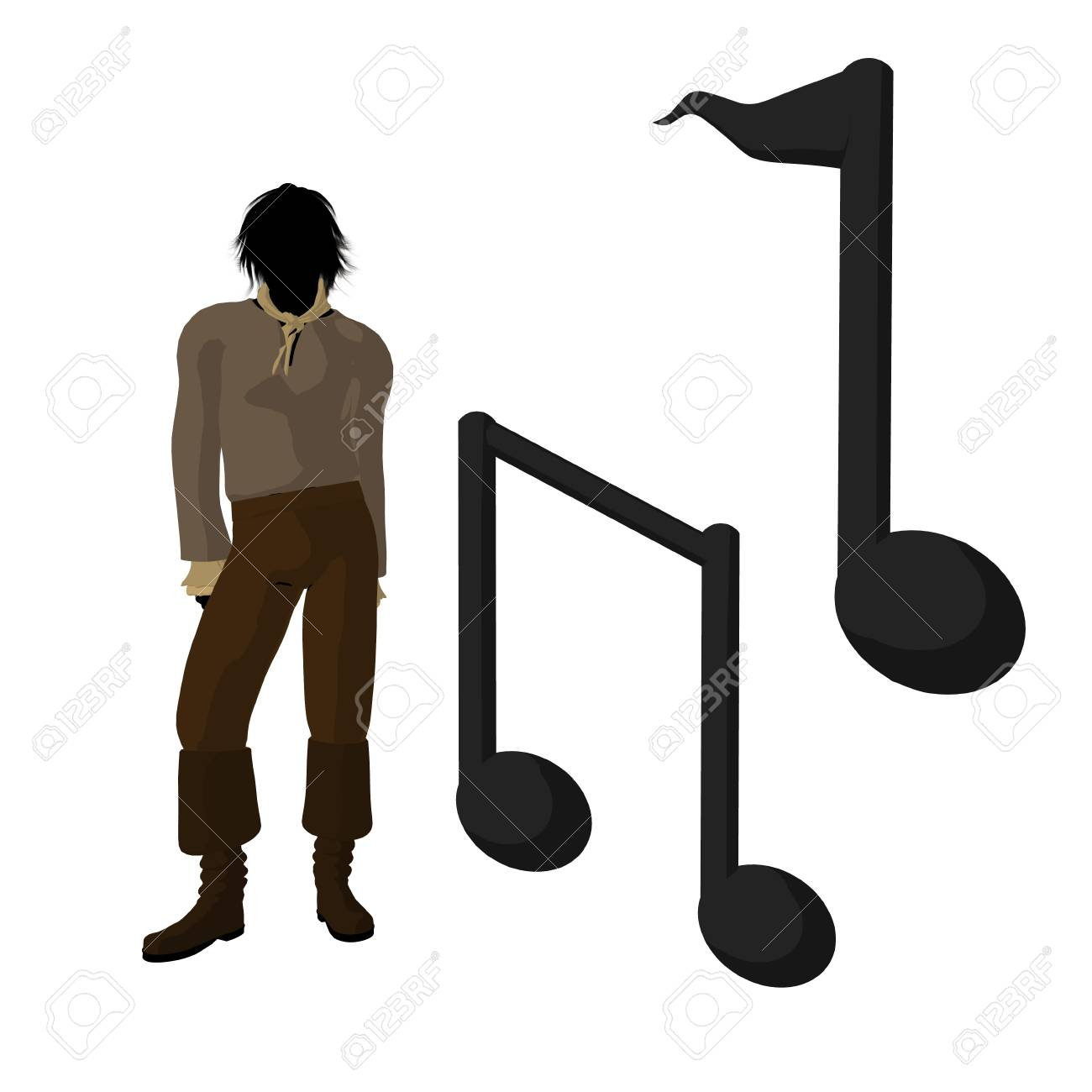 Ludwig van Beethoven musical notes on a white background Stock Photo - 9399941