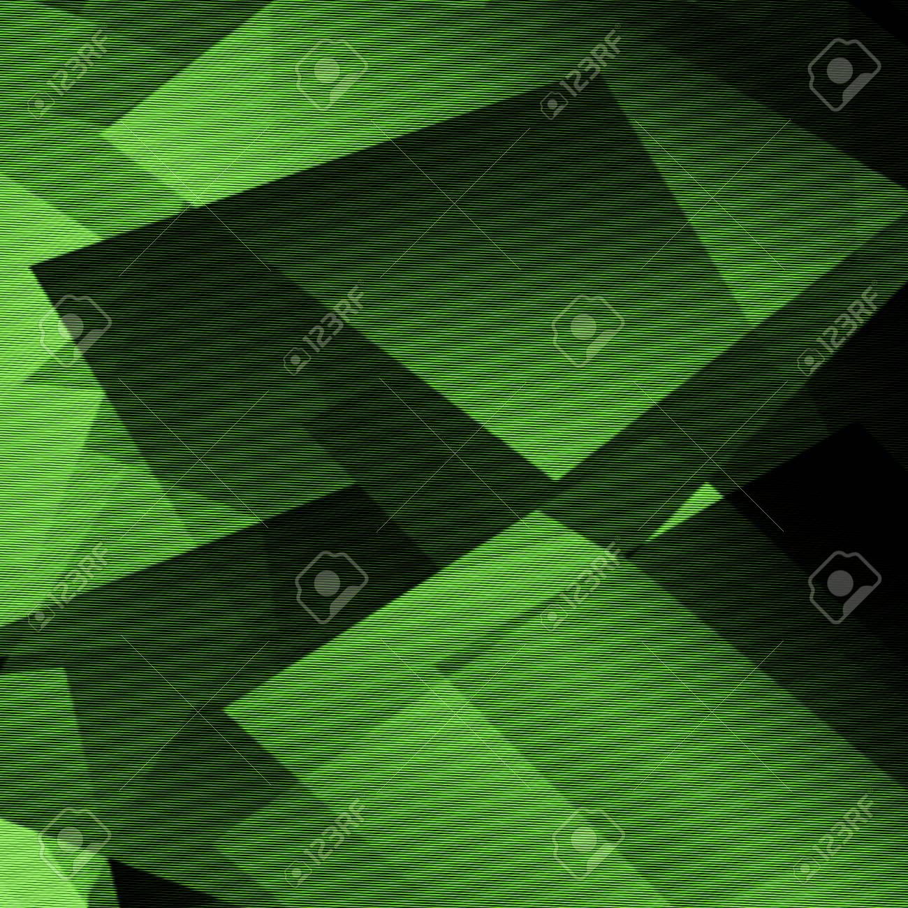 Immagini Stock Verde E Nero Sfondo Forme Astratte Linee Del
