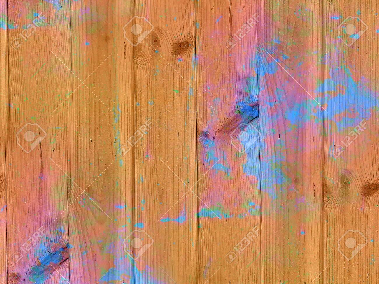 Texture of old wood. Colorful grunge background. Damaged surface. - 133797826