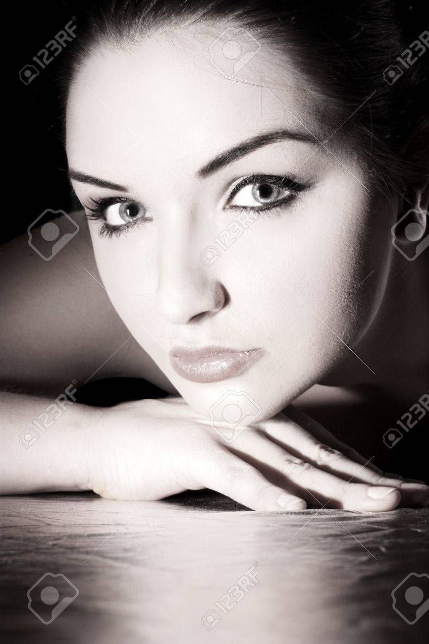 A close up of a beautiful young woman looking at the camera. Stock Photo - 6535394