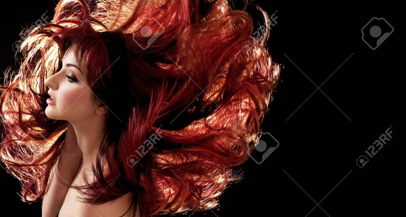A beautiful woman with crazy hair Stock Photo - 13007978