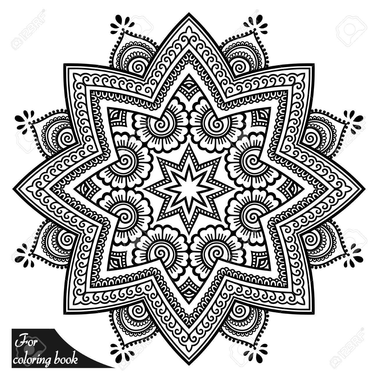 Dorable Mehndi Para Colorear Ornamento - Ideas Para Colorear ...