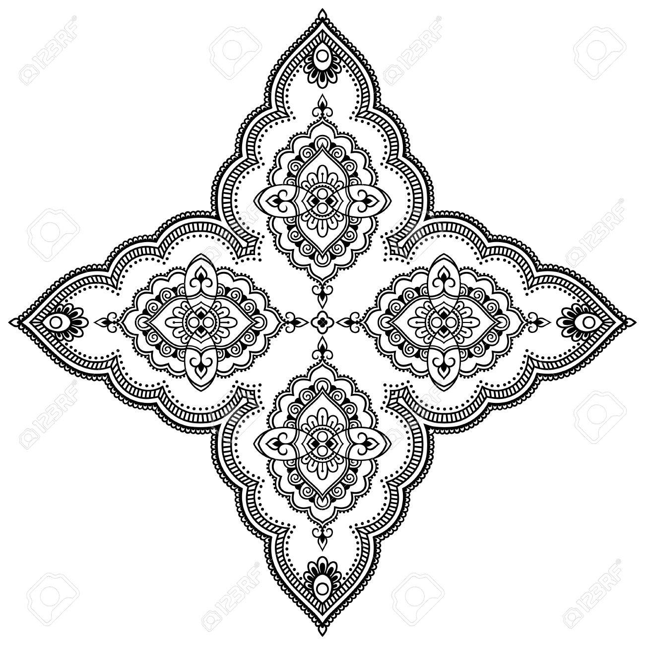 vector henna tatoo mandala mehndi style decorative pattern in rh 123rf com henna vector art henna vector pattern