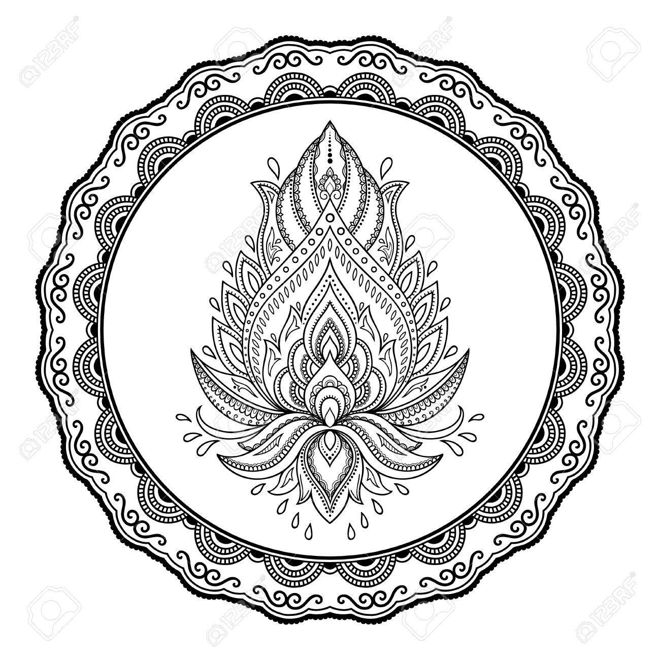 a circular pattern in the form of a mandala henna tattoo flower rh 123rf com Scalable Vector Graphics Scalable Vector Graphics