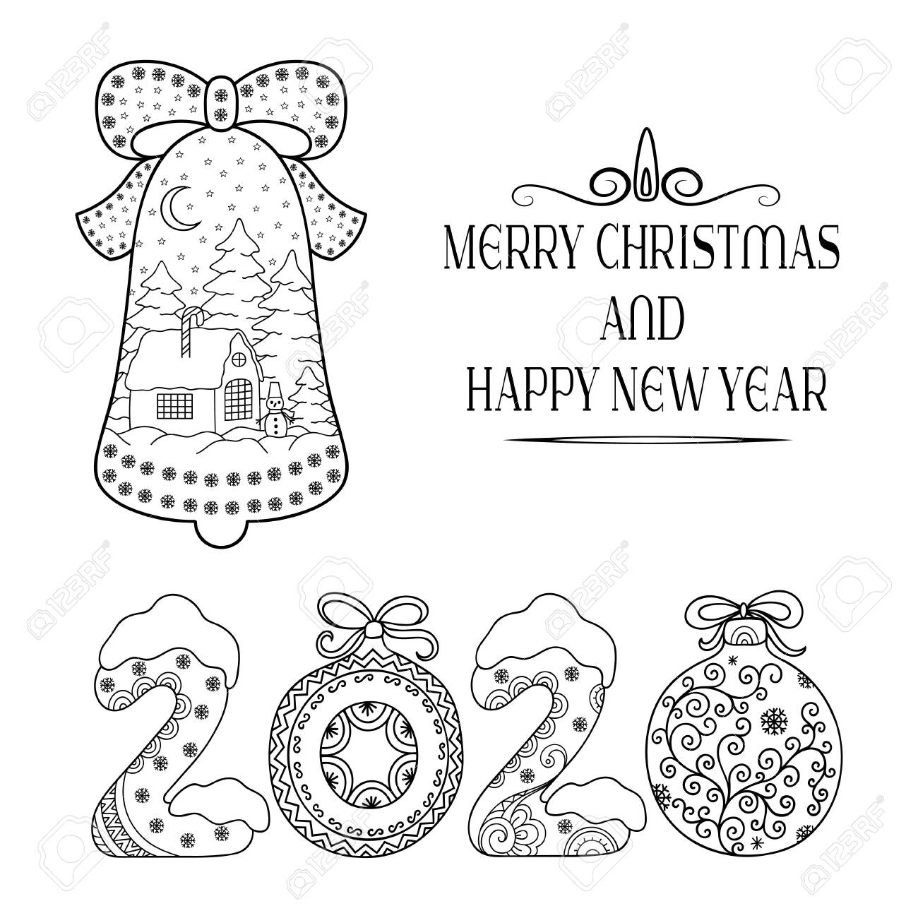 Happy New Year Coloring Pages | New year coloring pages, Printable ... | 1300x1300