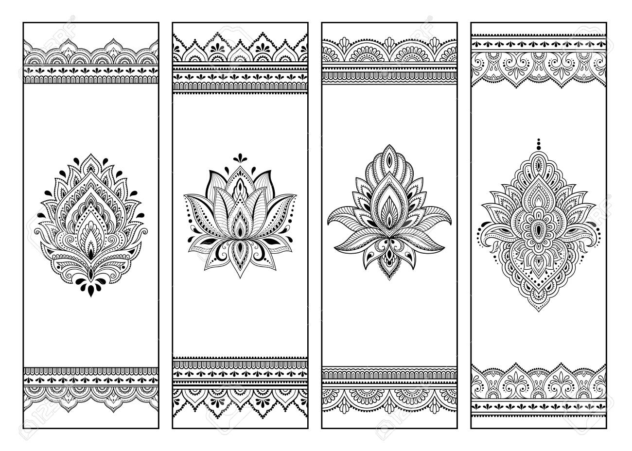 Printable bookmark for book - coloring. Set of black and white..