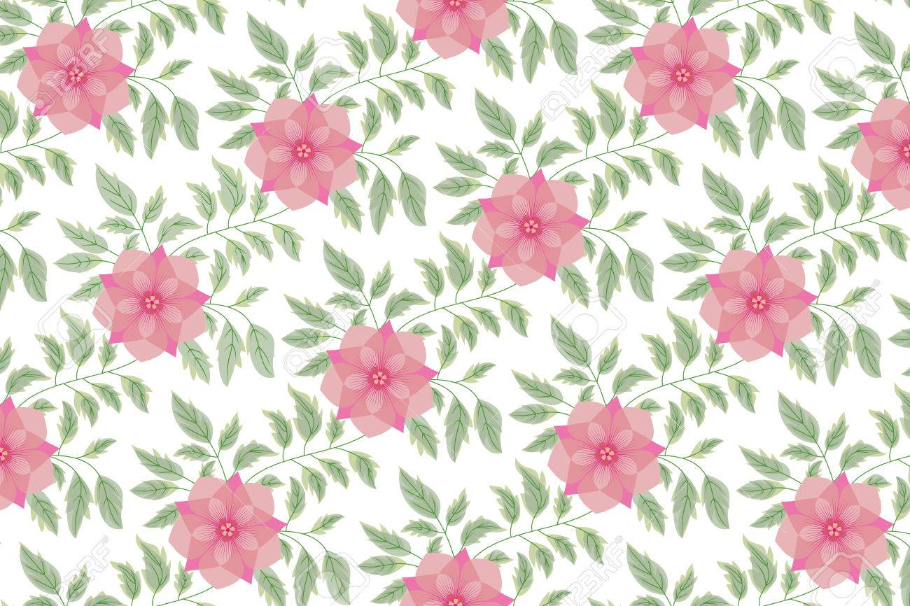 Floral Vintage Seamless Pattern For Retro Wallpapers Royalty Free