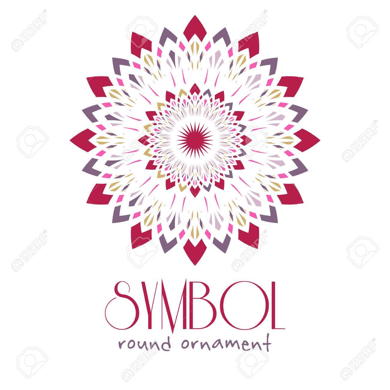 editable round ornament logo template design vector circular