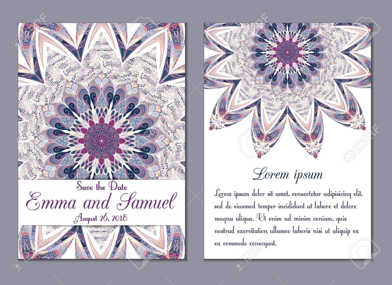 Mariage Carton Dinvitation Idéal Pour Gagner La Date Douche De Bébé Jour De Mères Saint Valentin Cartes Danniversaire Invitations Vector