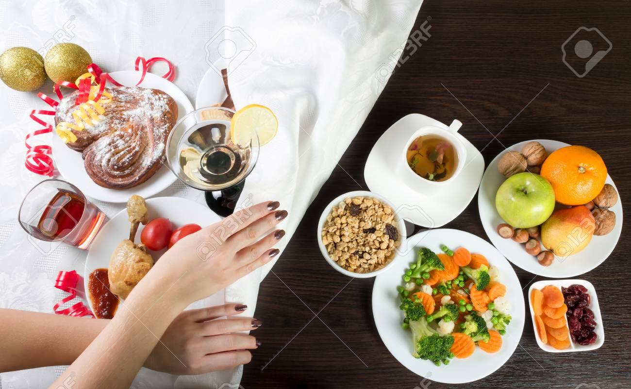 Tabelle Mit Gesundem Und Ungesundem Lebensmittel Und Alkohol