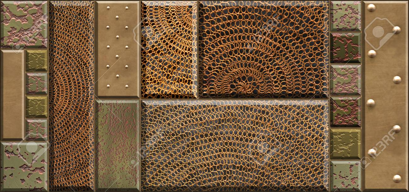 Decor For Ceramic Tile Textures Of Stone Metal Rivets Meshy