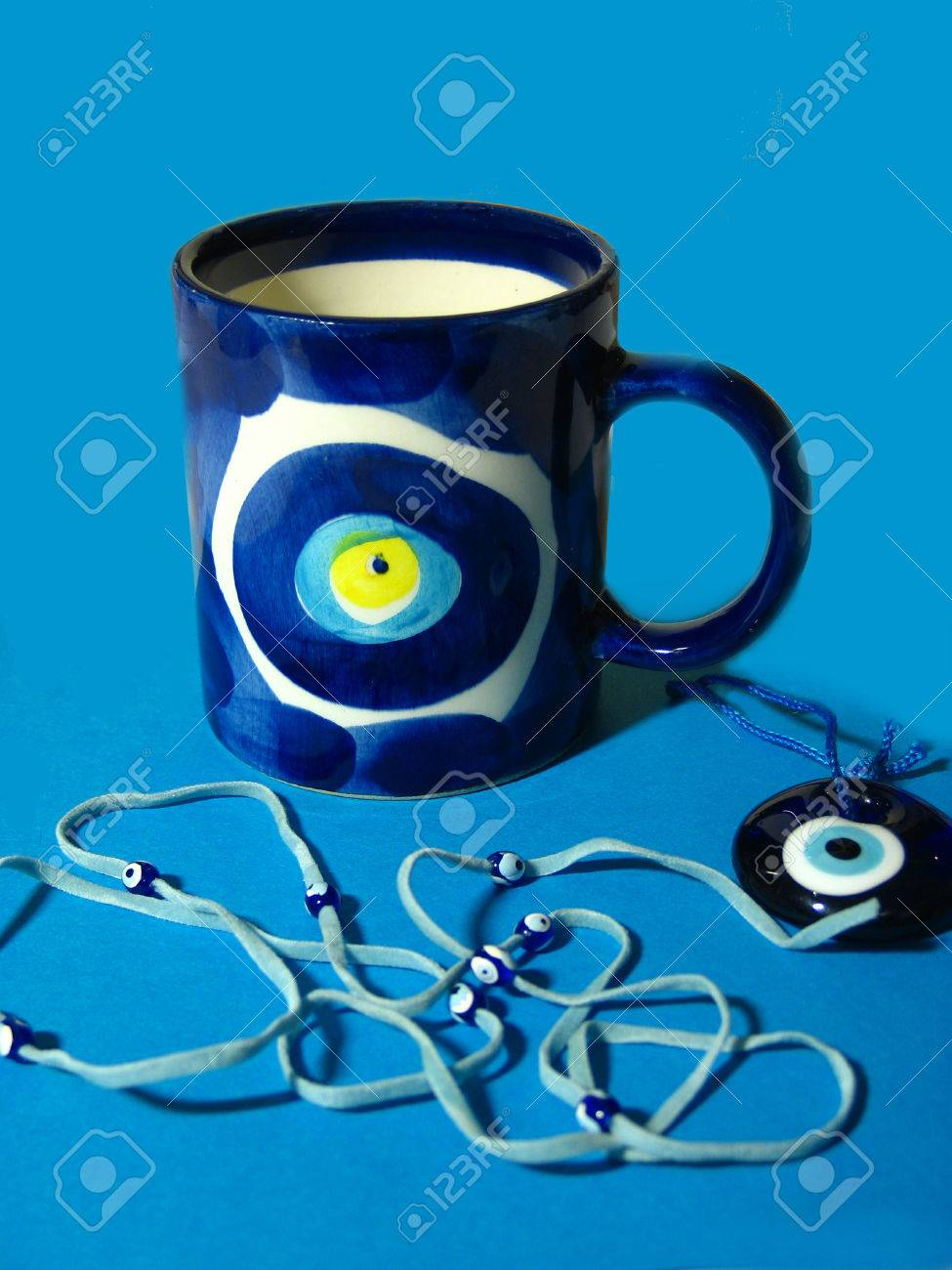 Souvenirs from Turkey with traditional Nazar - blue evil eye