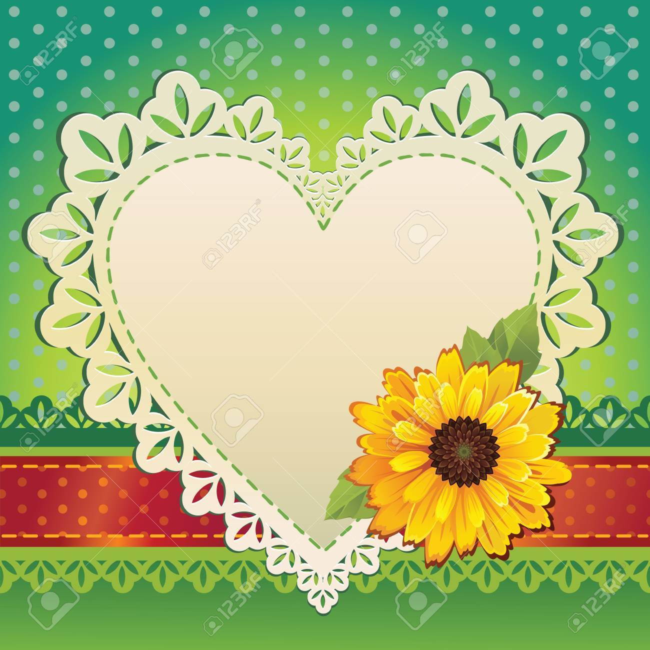 Valentine Heart Card Template Royalty Free Cliparts Vectors And