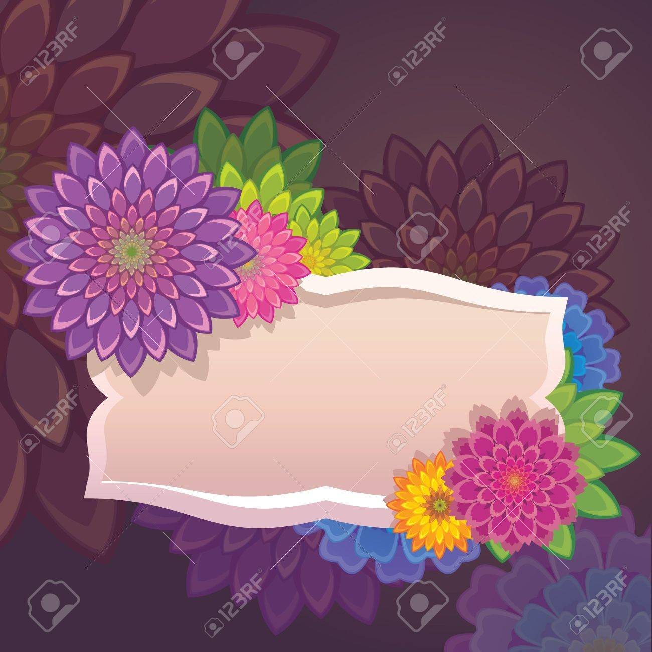 Flowers Tag Label Template Royalty Free Cliparts, Vectors, And Stock ...