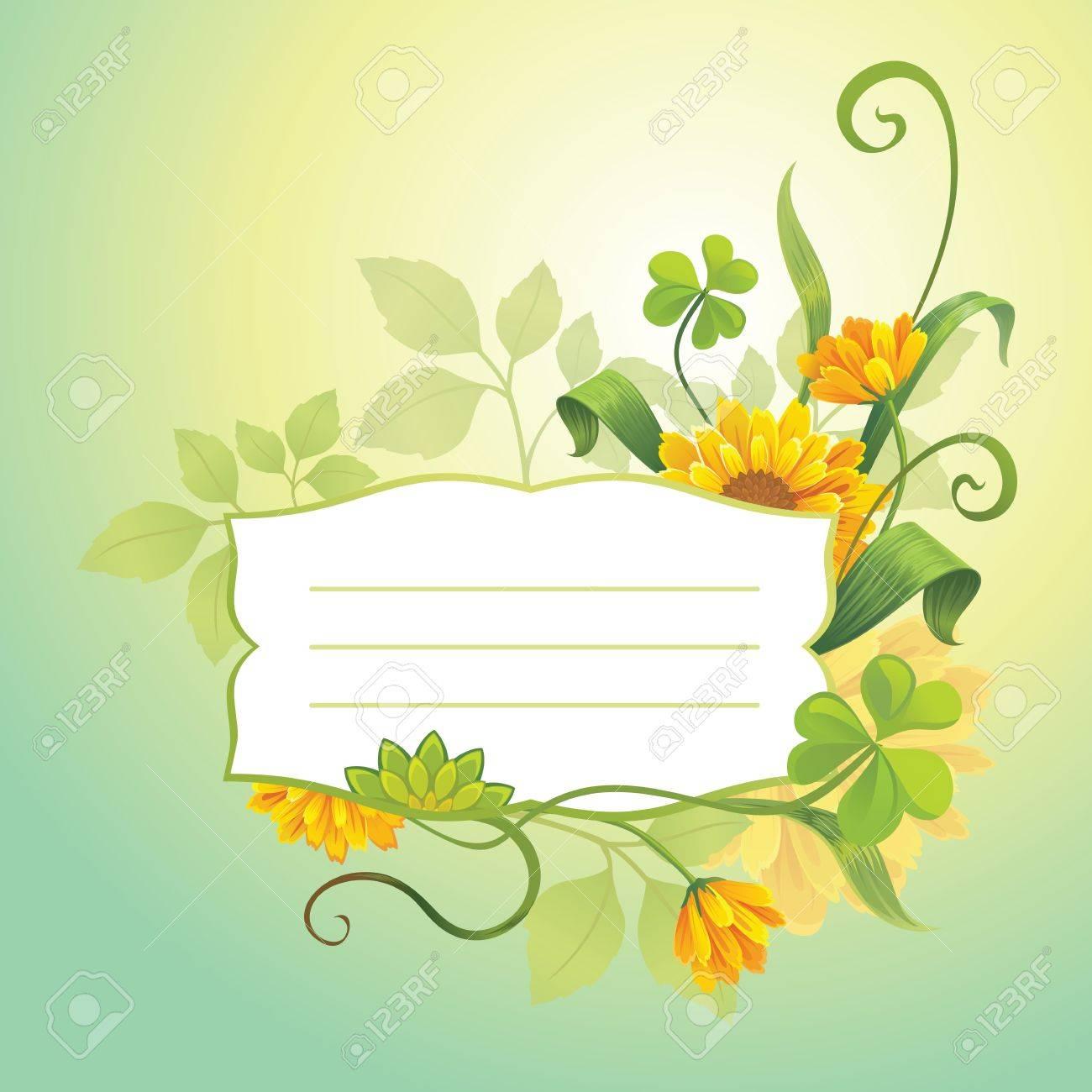 flower cover Stock Vector - 15817931