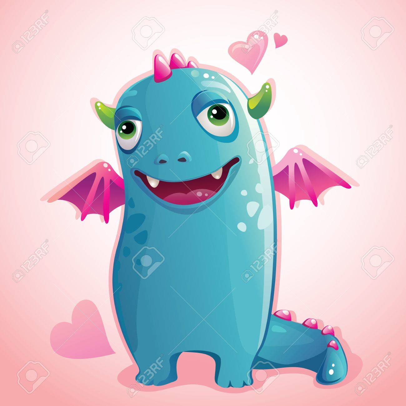 cute monster in love Stock Vector - 15817930