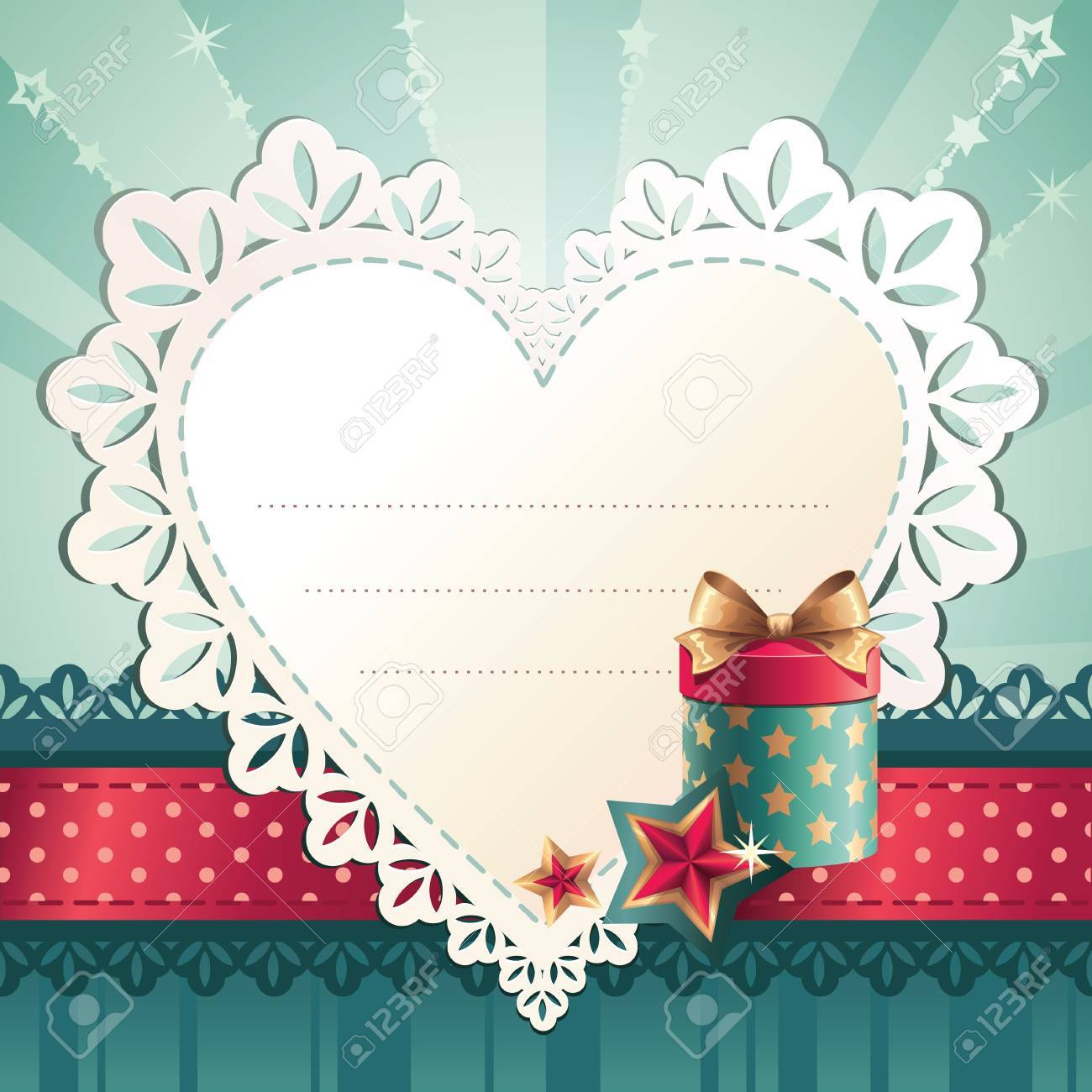 heart tag label Stock Vector - 15967011