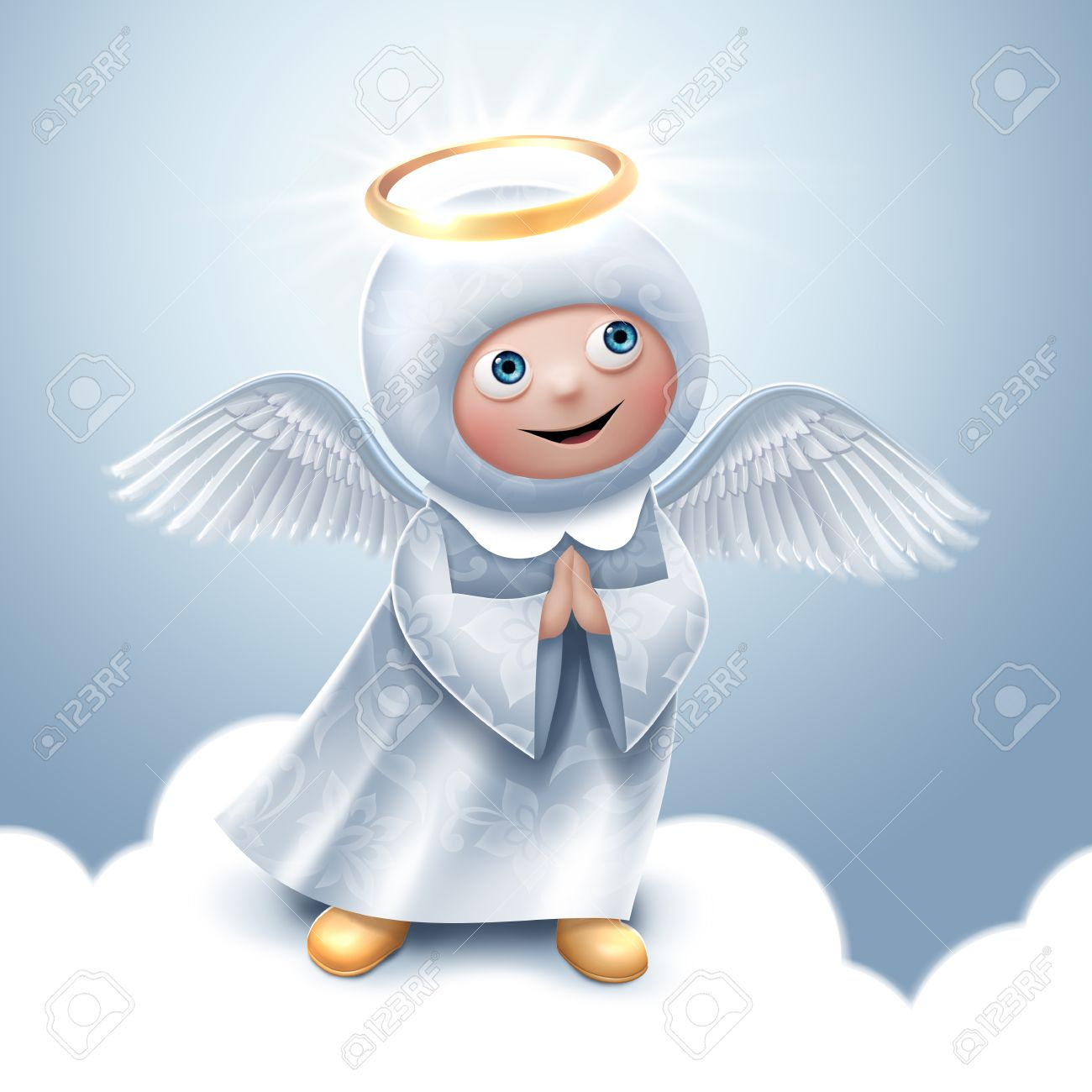 Praying Angel Clip-art, Christmas Greeting Card Stock Photo ...