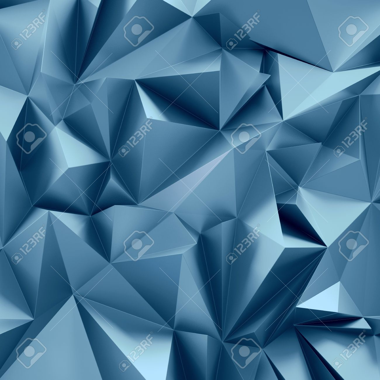 3d Abstract Crystal Background Metallic Geometrical Wallpaper Stock Photo