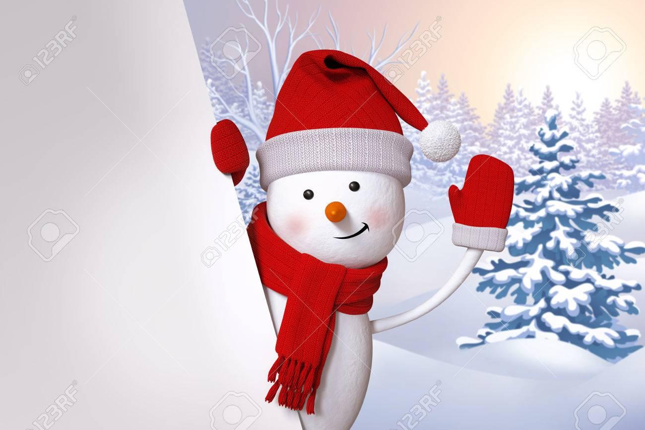 Bonhomme De Neige Carte De Voeux, De Noël Arbre Vacances Fond
