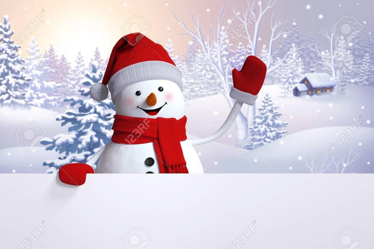 Snowman greeting card christmas holiday background winter nature snowman greeting card christmas holiday background winter nature snowy landscape happy new m4hsunfo