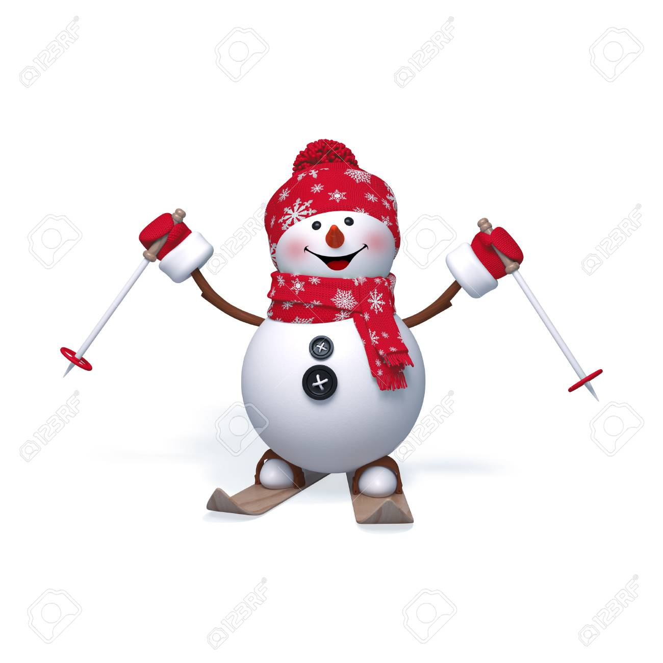 Game Snowman skiing